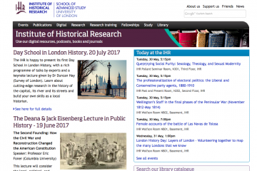 ationsDigitalResearchResearch trainingFellowshipsStudyLibrary Institute of Historical Research