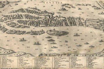 Simon Pinargenti Mappa di Venezia 1573