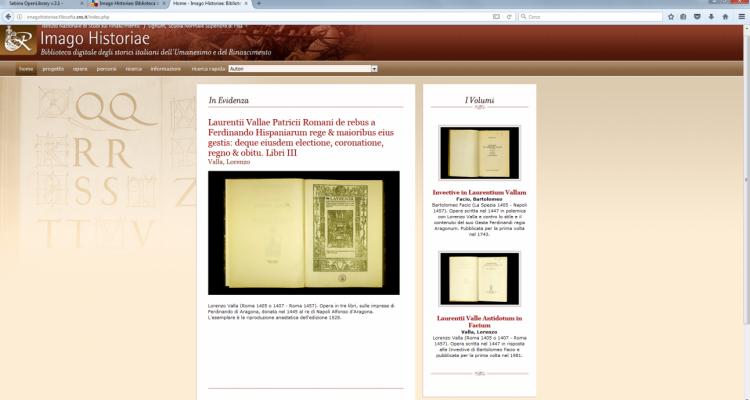 Imago Historiae: Biblioteca degli storici italiani dell'Umanesimo e del Rinascimento