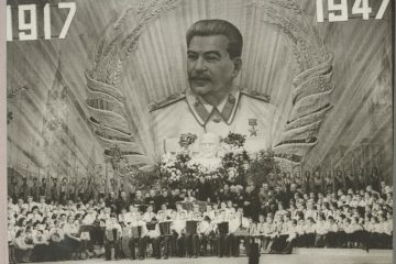 Children at Bolshoi Theater for the celebration of the 30th anniversary of Bolshevik Revolution