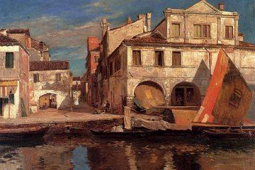 Canal_Scene_in_Chioggia_by_Bauernfeind
