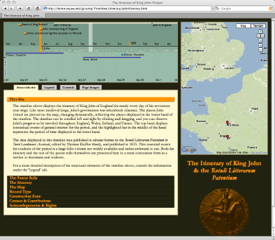 The Itinerary of King John