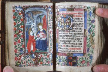 Book of Hours, England, ink, tempera, and gold on parchment, 128 x 88 mm