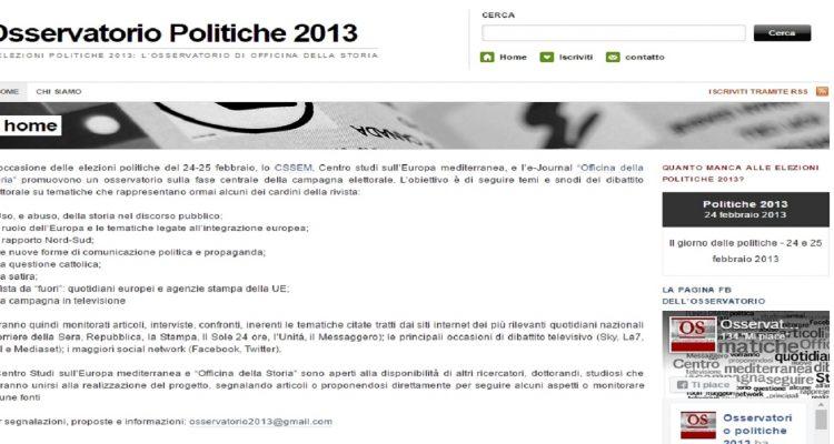 osservatorio politiche 2013