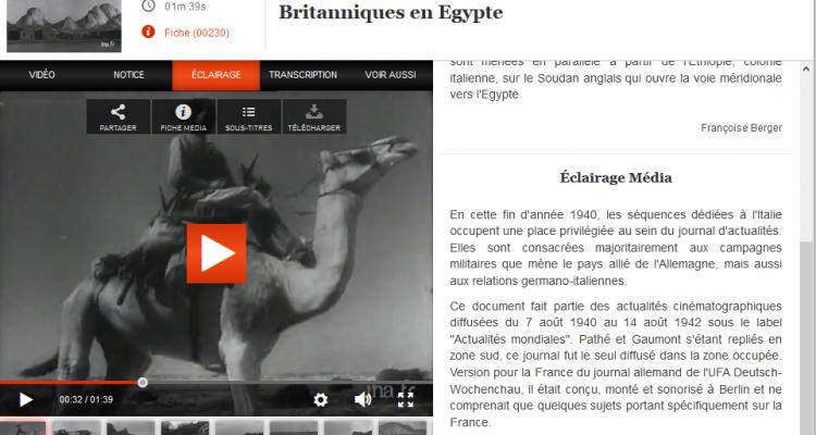 Les forces armées italiennes attaquent les Britanniques en Egypte
