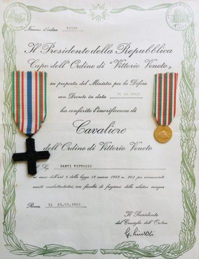 Conferimento onorificenza di Cavaliere di Vittorio Veneto a Santi Vittorio_10926