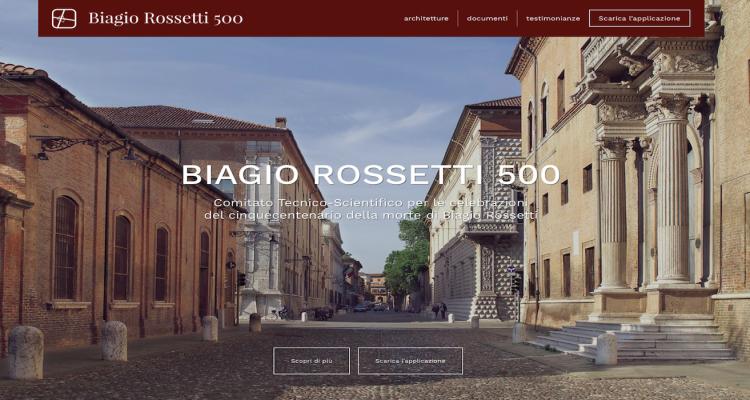 sito e app per i 500 anni di biagio rossetti