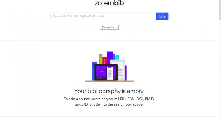 ZoteroBib_schermata