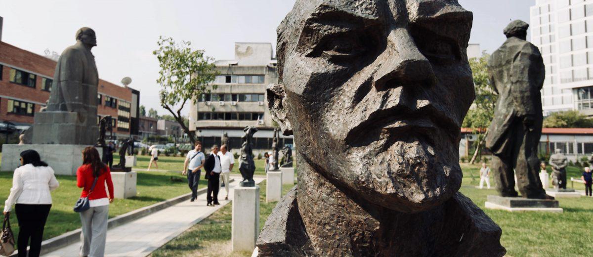 Leninstatue im Museum of Socialist Art in Sofia